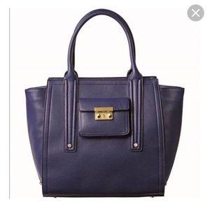 Phillip Lim Purple Faux Leather Bag Tote Purse